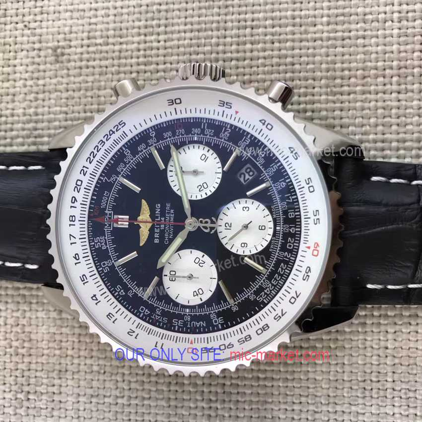 Breitling Navitimer 46mm Replica Watch SS Chronograph